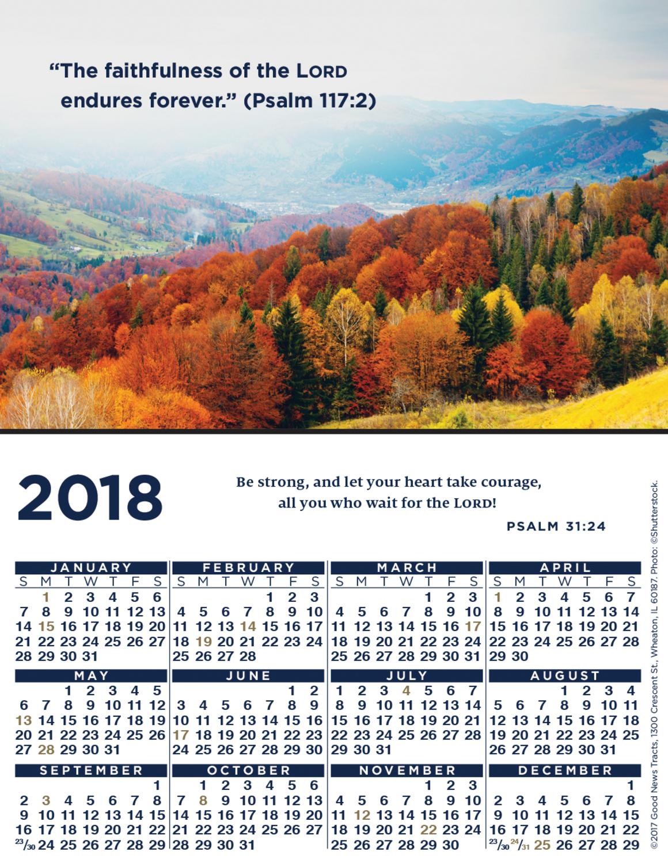2018 Verse Calendar Card (Picture)