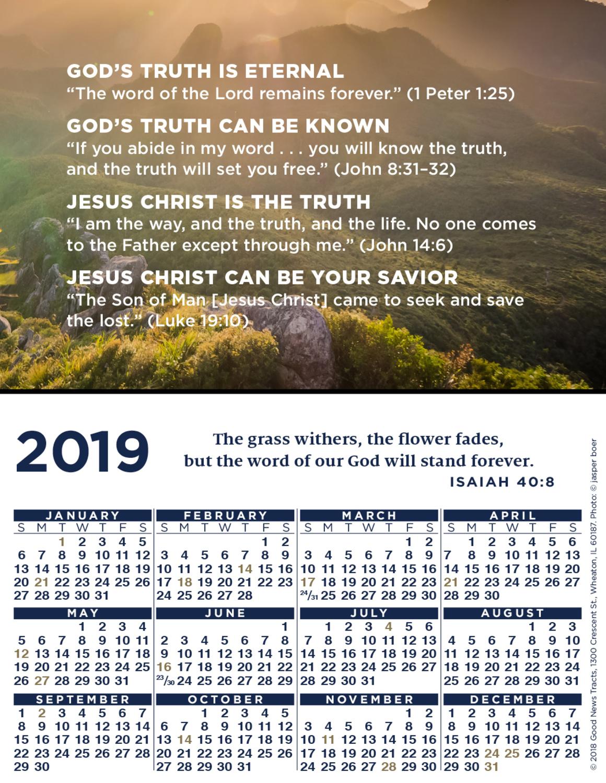 2019 Verse Calendar Card (Message)