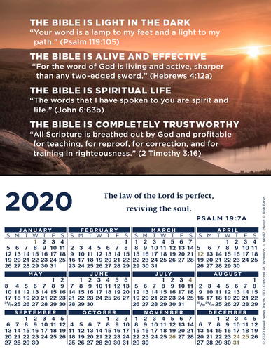2020 Verse Calendar Card (Message)