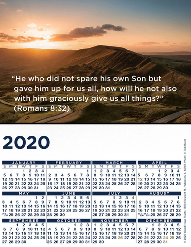 2020 Blank Calendar Card (Picture)