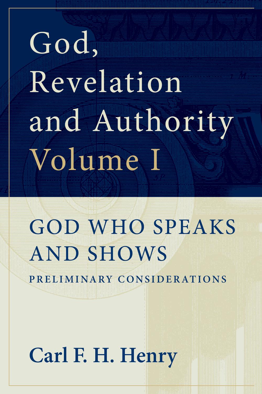 God, Revelation and Authority
