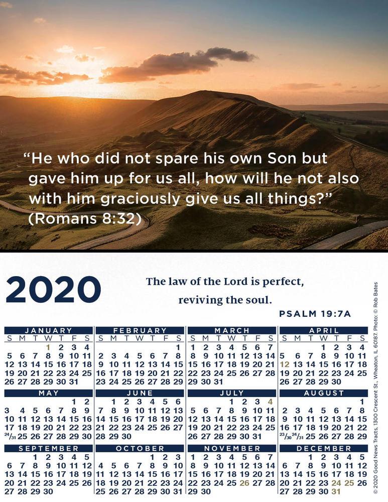 2020 Verse Calendar Card (Picture)